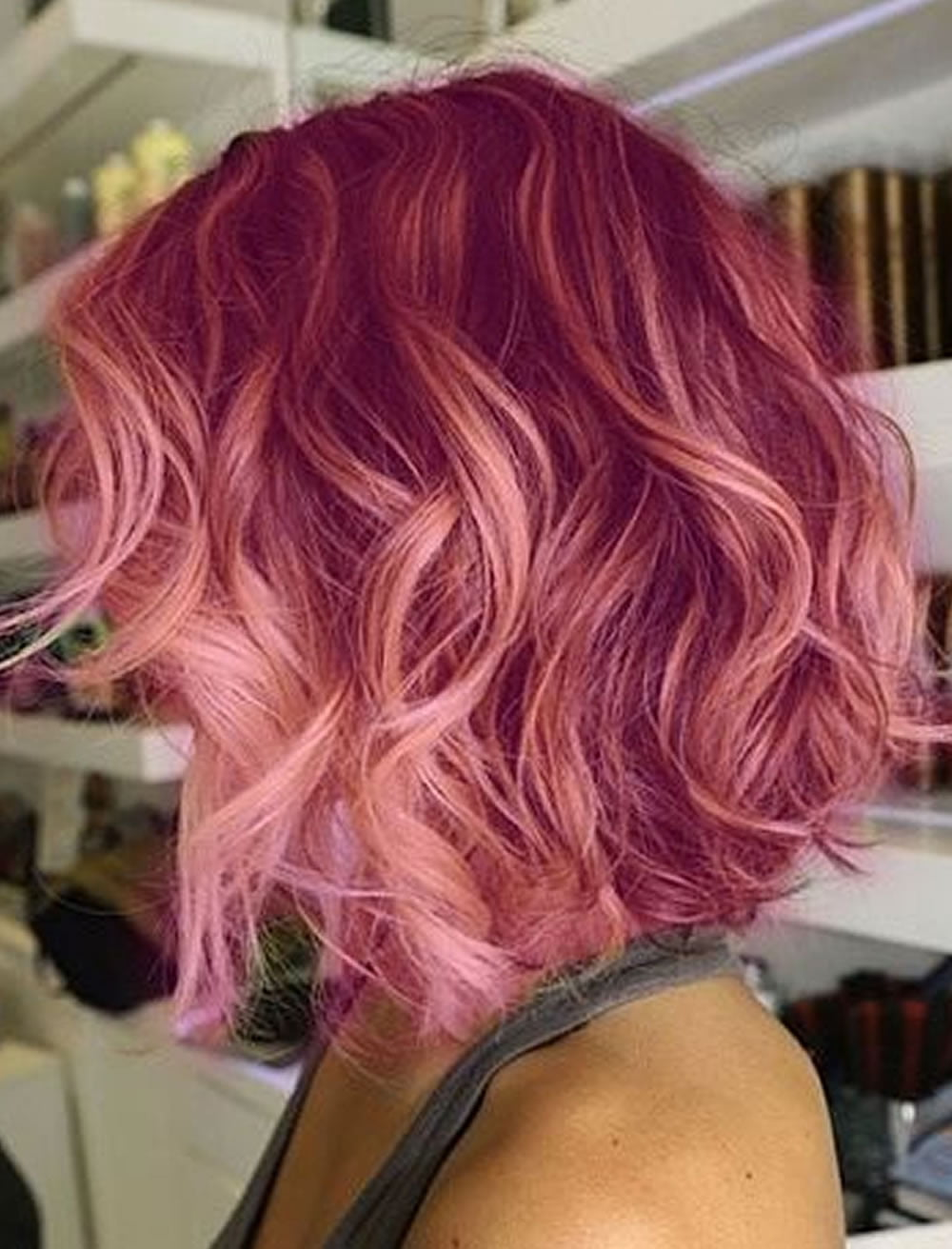 Red Hair Color Wavy Bob Hairstyles For Trendy Inverted Haircuts The