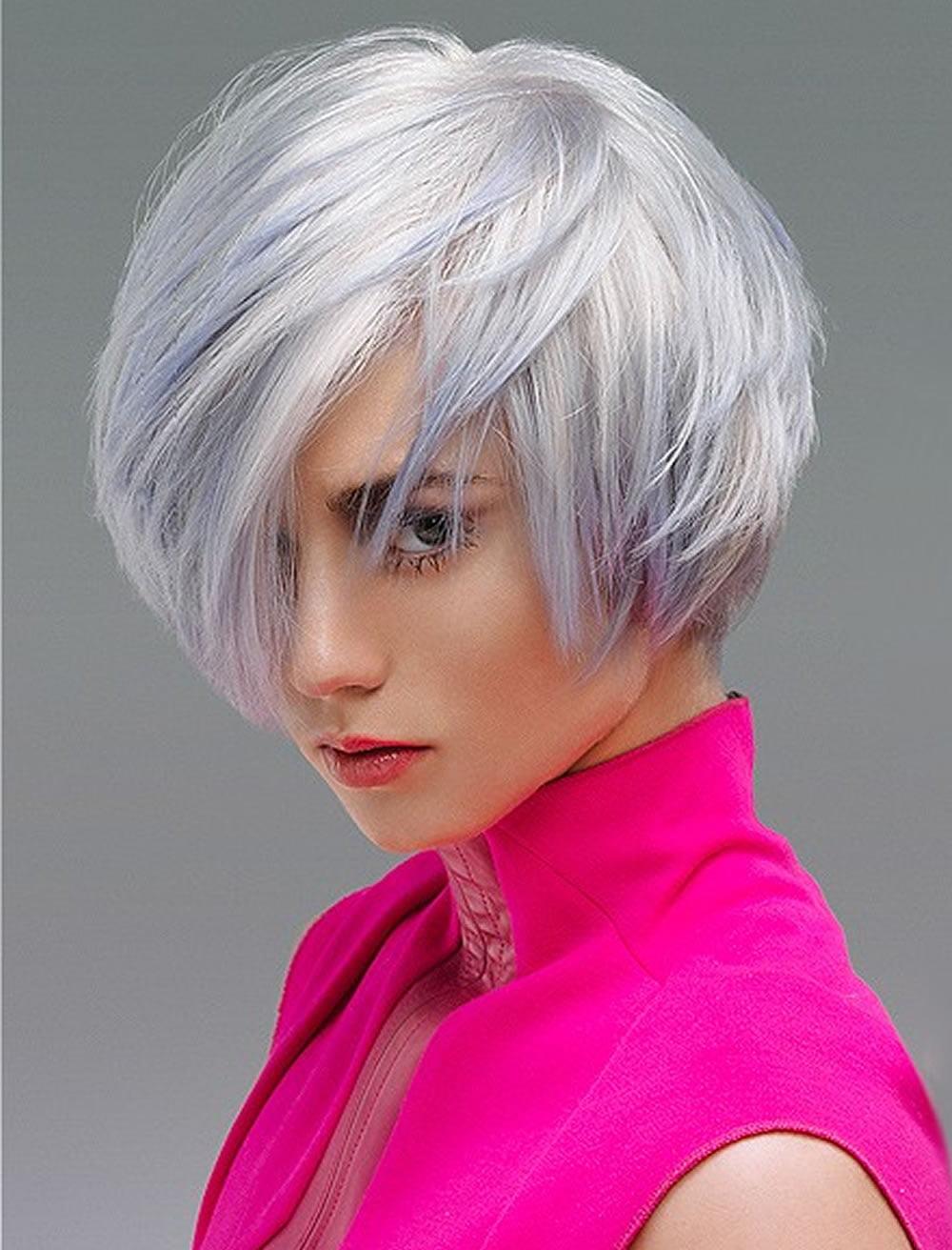 Белые волосы короткая стрижка