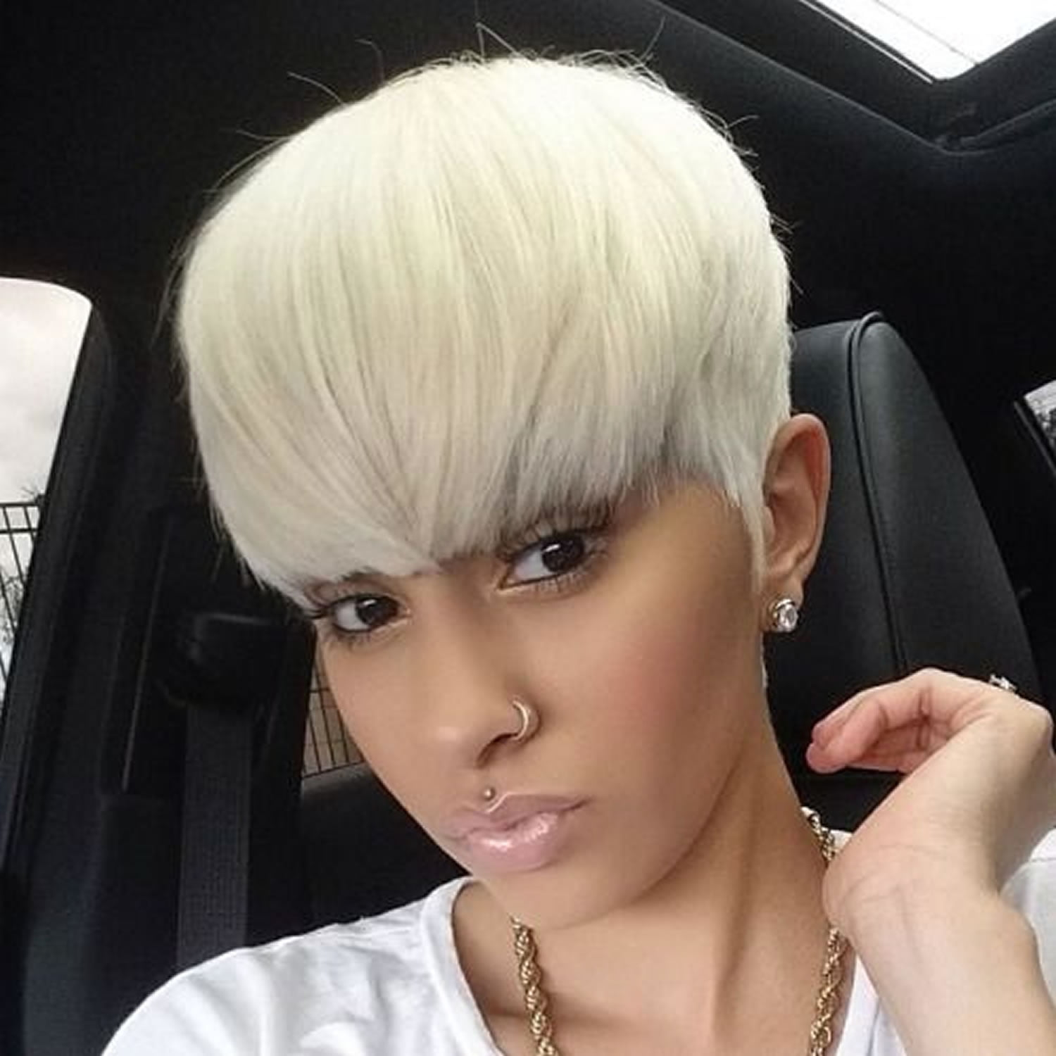 2018 Short Haircuts for Black Women  57 Pixie Short Black - Curly Hairstyles Tumblr