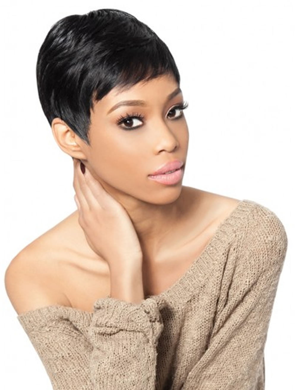 2018 short haircuts for black women � 57 pixie short black