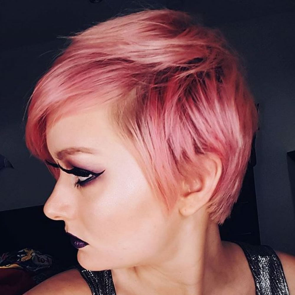 Pink Short Hair 2018 2019 Hairstyles