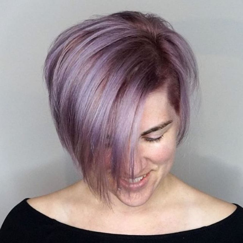 Pink Straight Short Hair For Women 2018 2019 Hairstyles