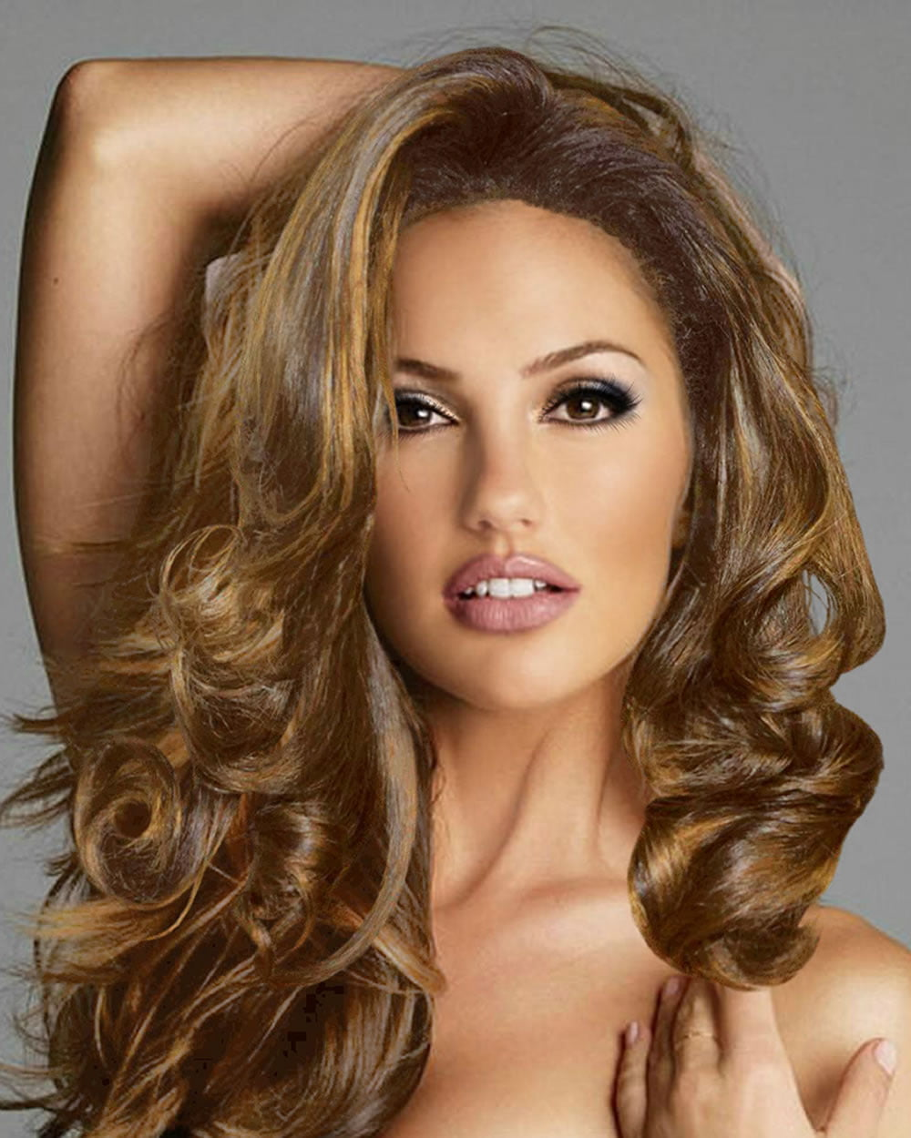 Ideas of long hairstyles with highlights and lowlights of light brown and black color