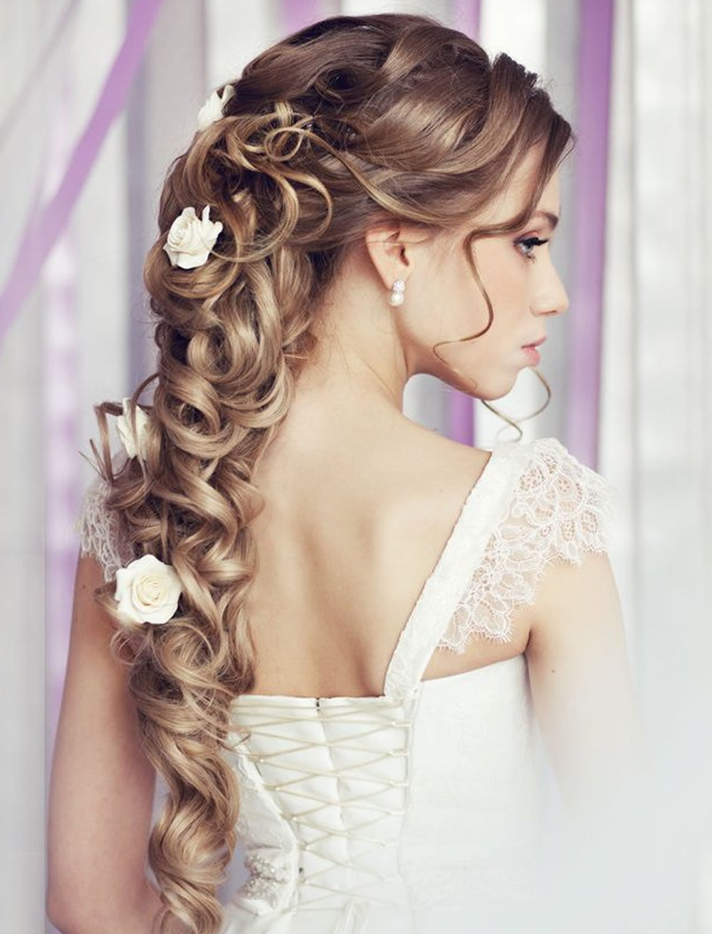 very stylish wedding hairstyles for long hair 2018 2019 page 4 hairstyles. Black Bedroom Furniture Sets. Home Design Ideas