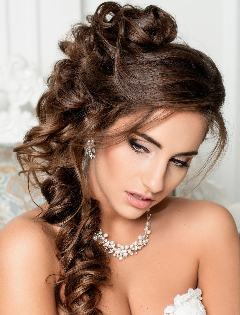 very stylish wedding hairstyles for long hair 2018 2019 hairstyles. Black Bedroom Furniture Sets. Home Design Ideas