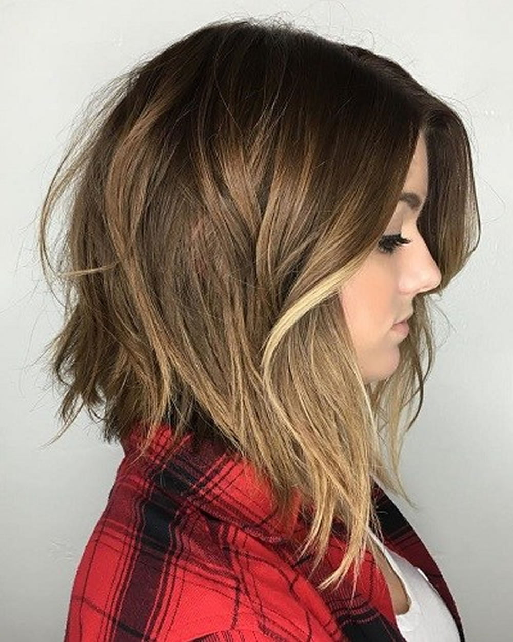 Asymmertical Shaggy Angled Bob Hairstyle 2018-2019 – HAIRSTYLES