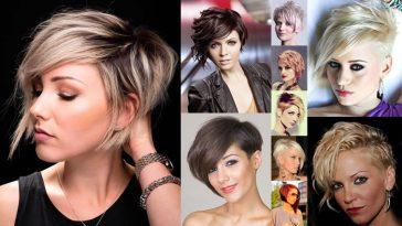 Asymmetrical Short Hair Style 2018