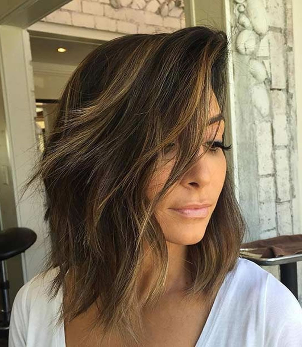 Asymmetrical Short Haircuts with Balayage Highlights 2018 – 2019 ...