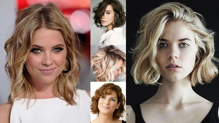 Wavy Short Hairstyles and Haircuts for 2018-2019