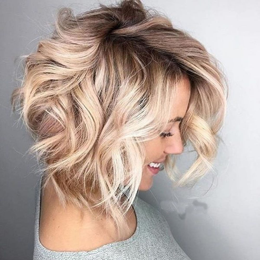 Wavy Short Hairstyles and  Bob Haircuts for 2018-2019