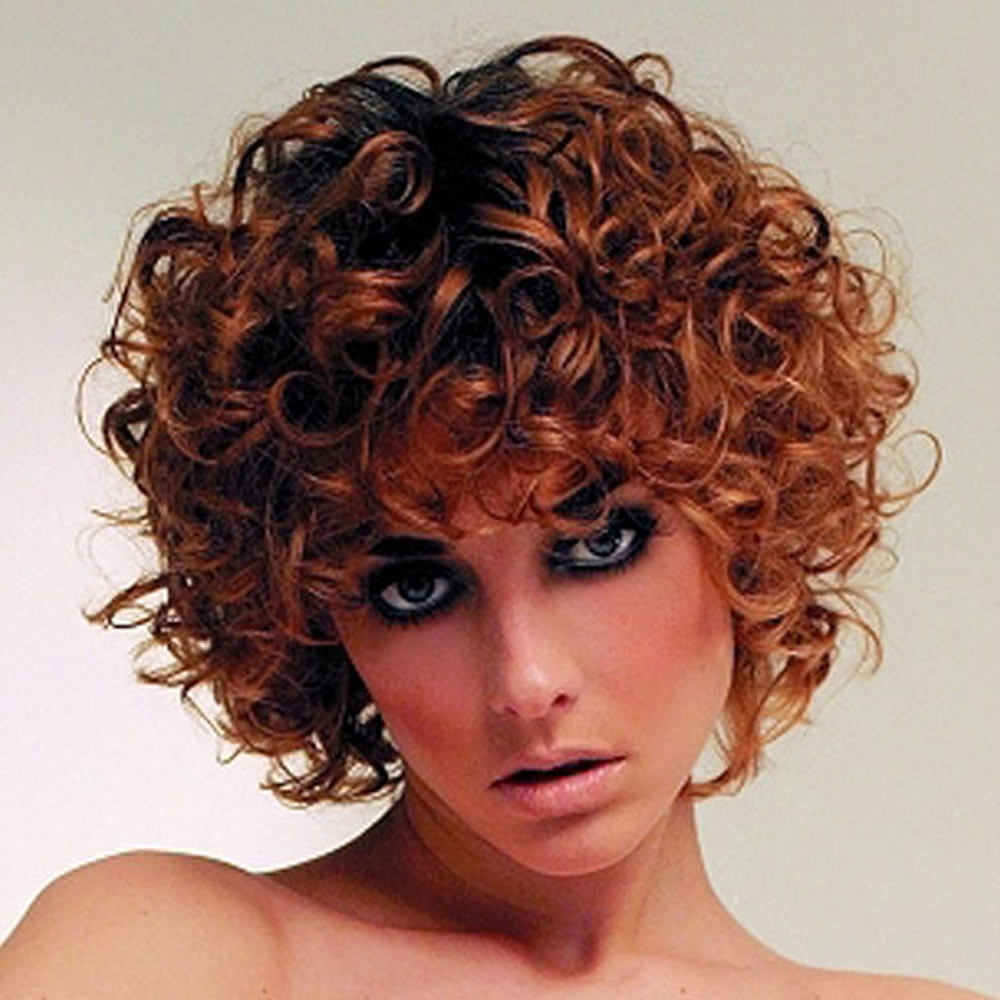 how to make short permed hair curly