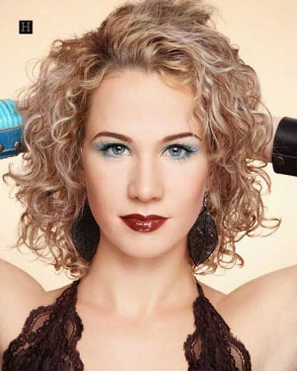 2018 permed hairstyles for short hair � best 32 curly