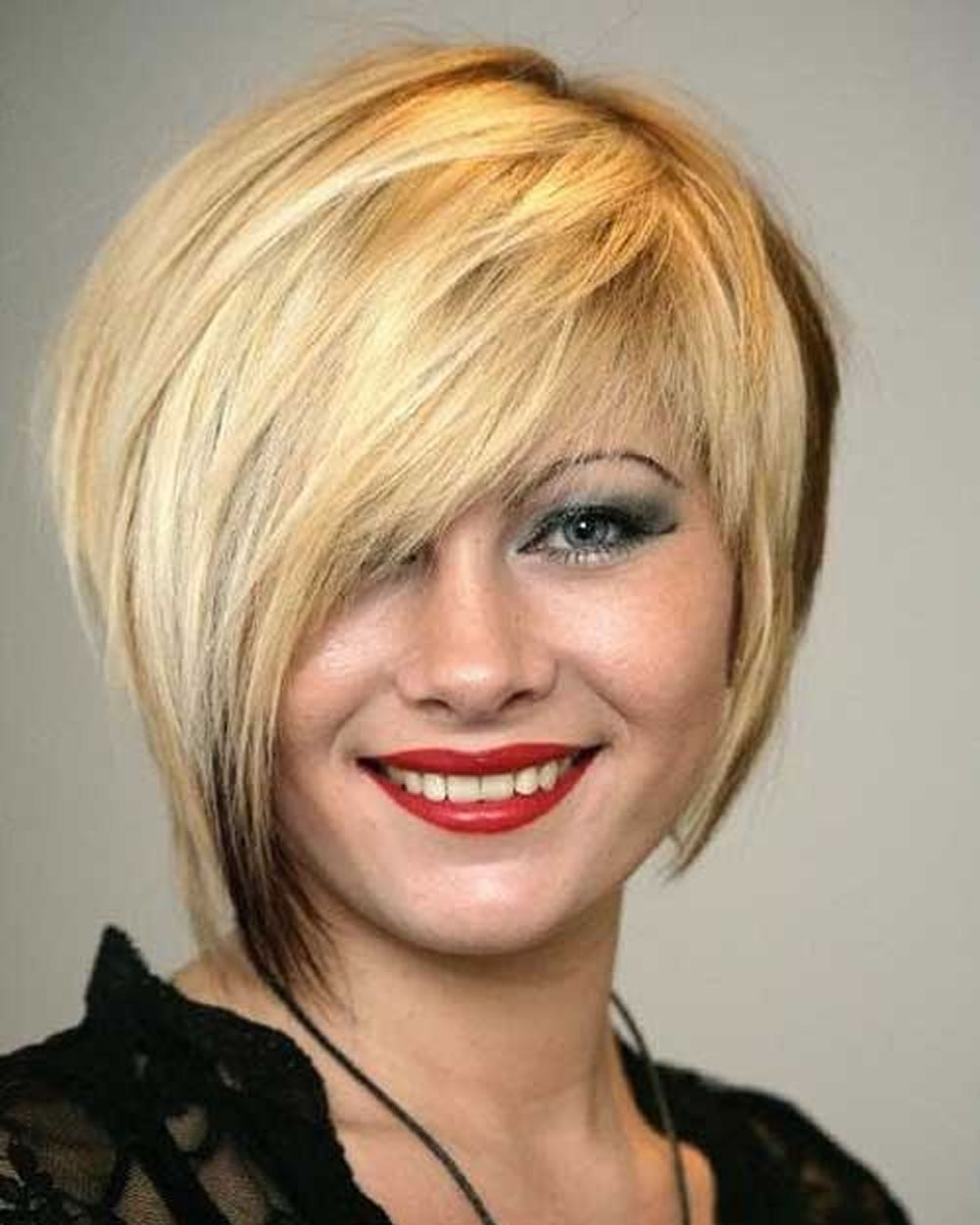 Асимметрическая стрижка на средние волосы
