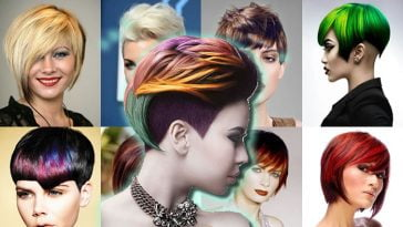 2018 Short Haircuts Latest Hair Colors and Designs for Ladies