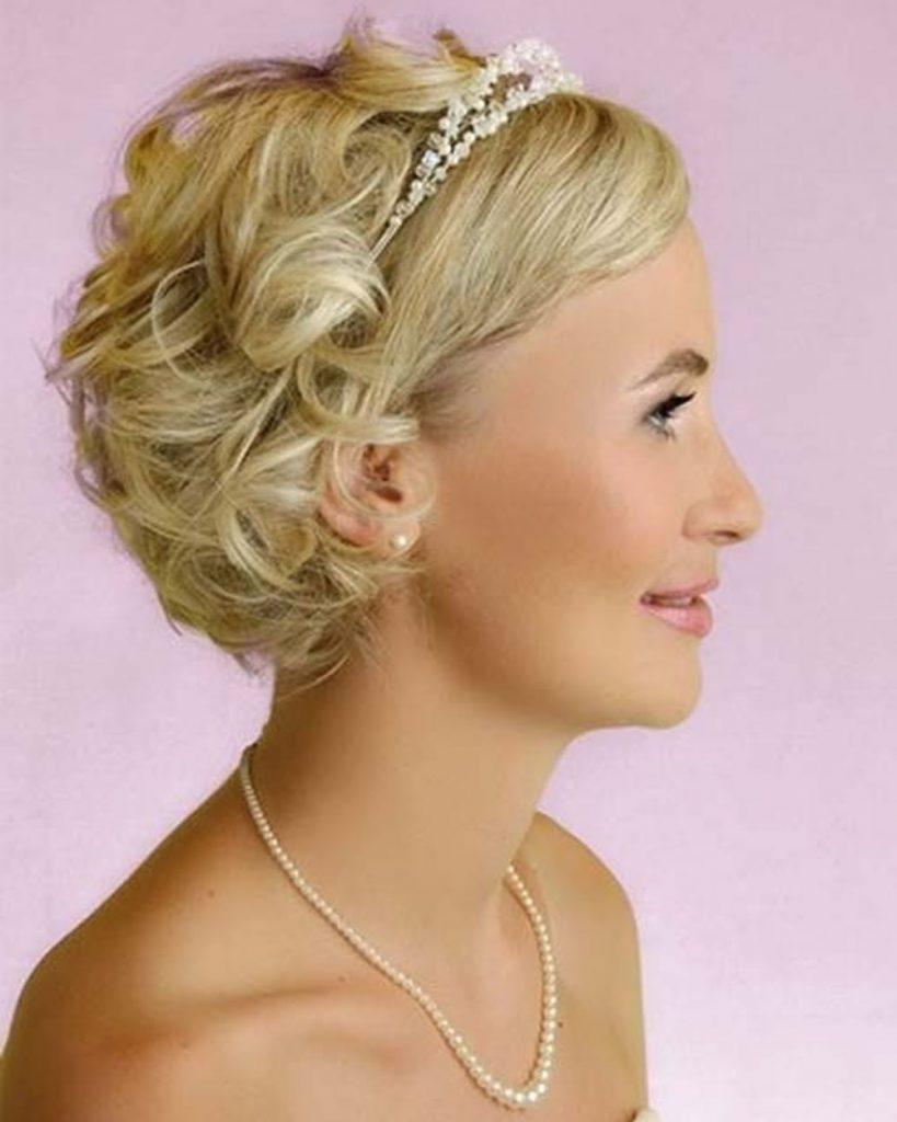 Свадебные прически для короткие волосы фото