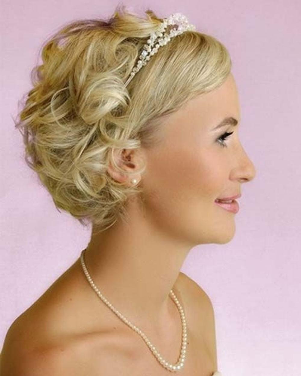 Красивые прически на короткий волос на свадьбу фото