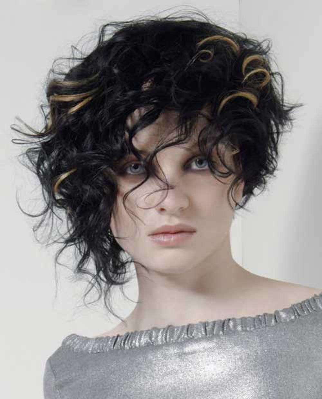 Asymmetrical Short Curly Hair Styles 2018 & Short Bob Hair Cut Ideas 2018-2019