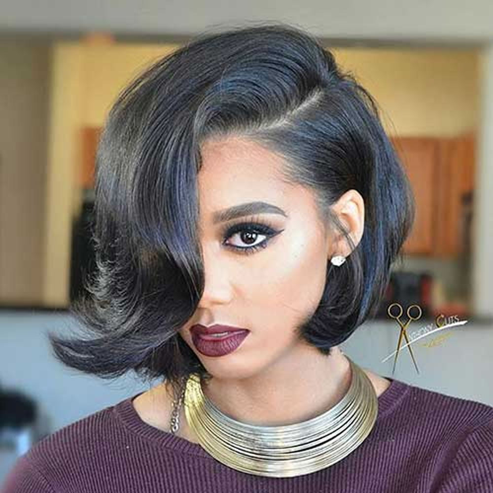 37 Wedding Hairstyles For Black Women To Drool Over 2017: Short Bob Hair For African-American Women 2018-2019