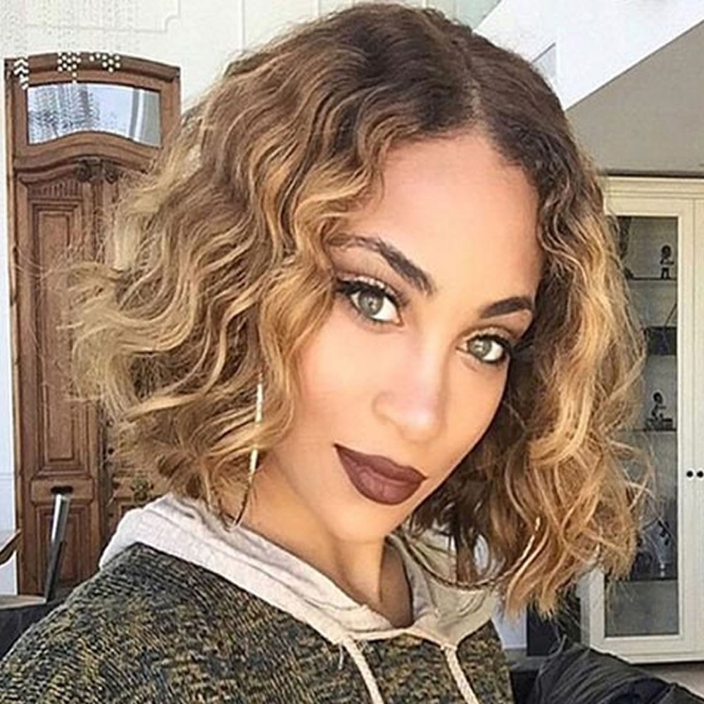 Medium length curly hairstyles 2018