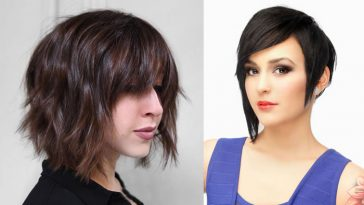 Short Bob Haircuts with Bangs and Layered Bob Hairstyles +Hair Colors 2018-2019