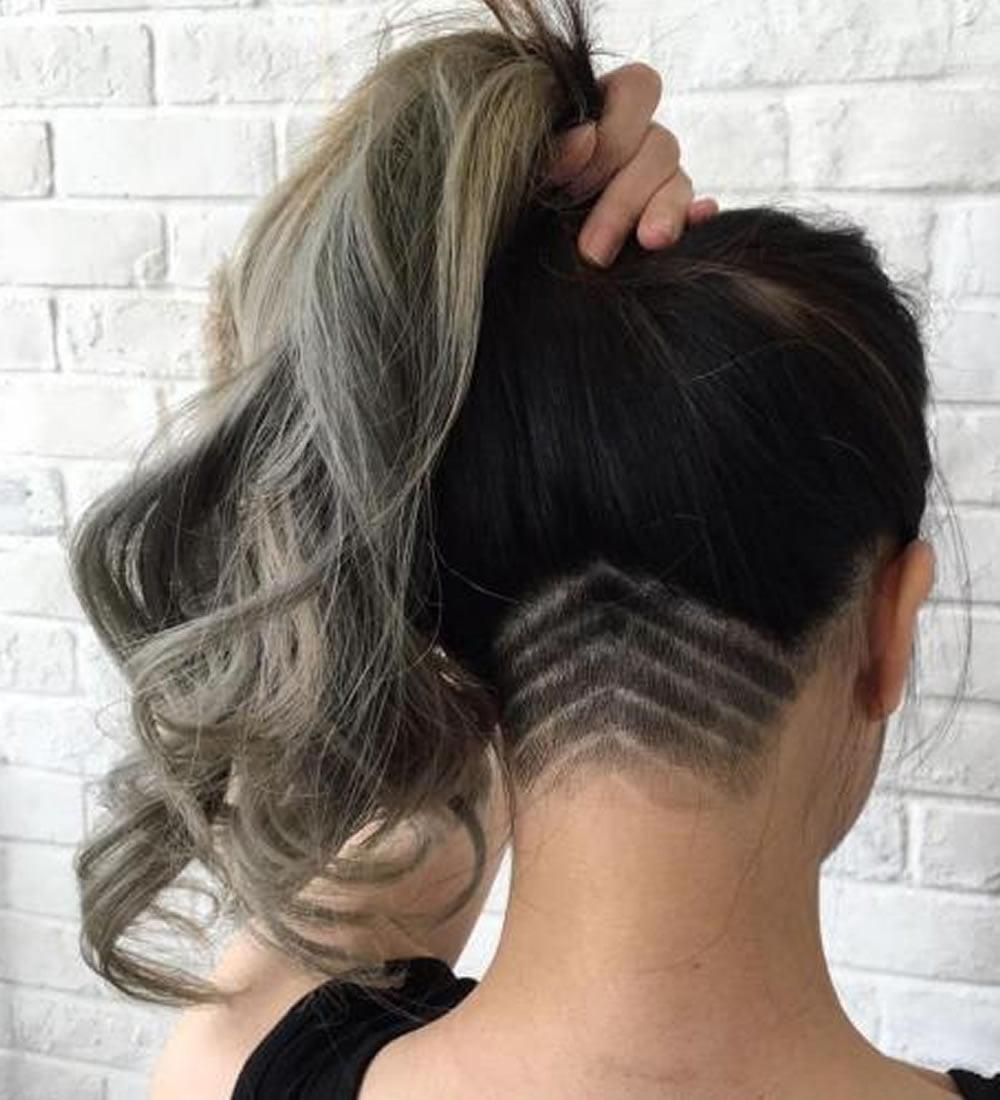 40 new undercut hairstyles for women long medium or short hair - Undercut Nacken Muster