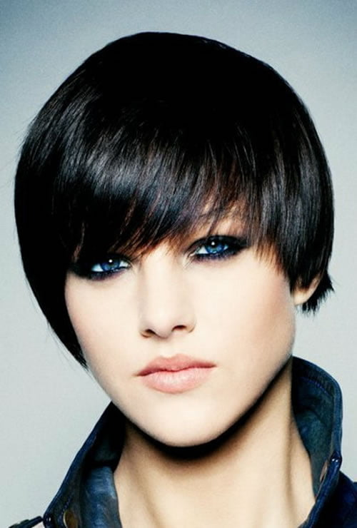 Black Hair color 2018 - Short Straight Hairstyles for Women