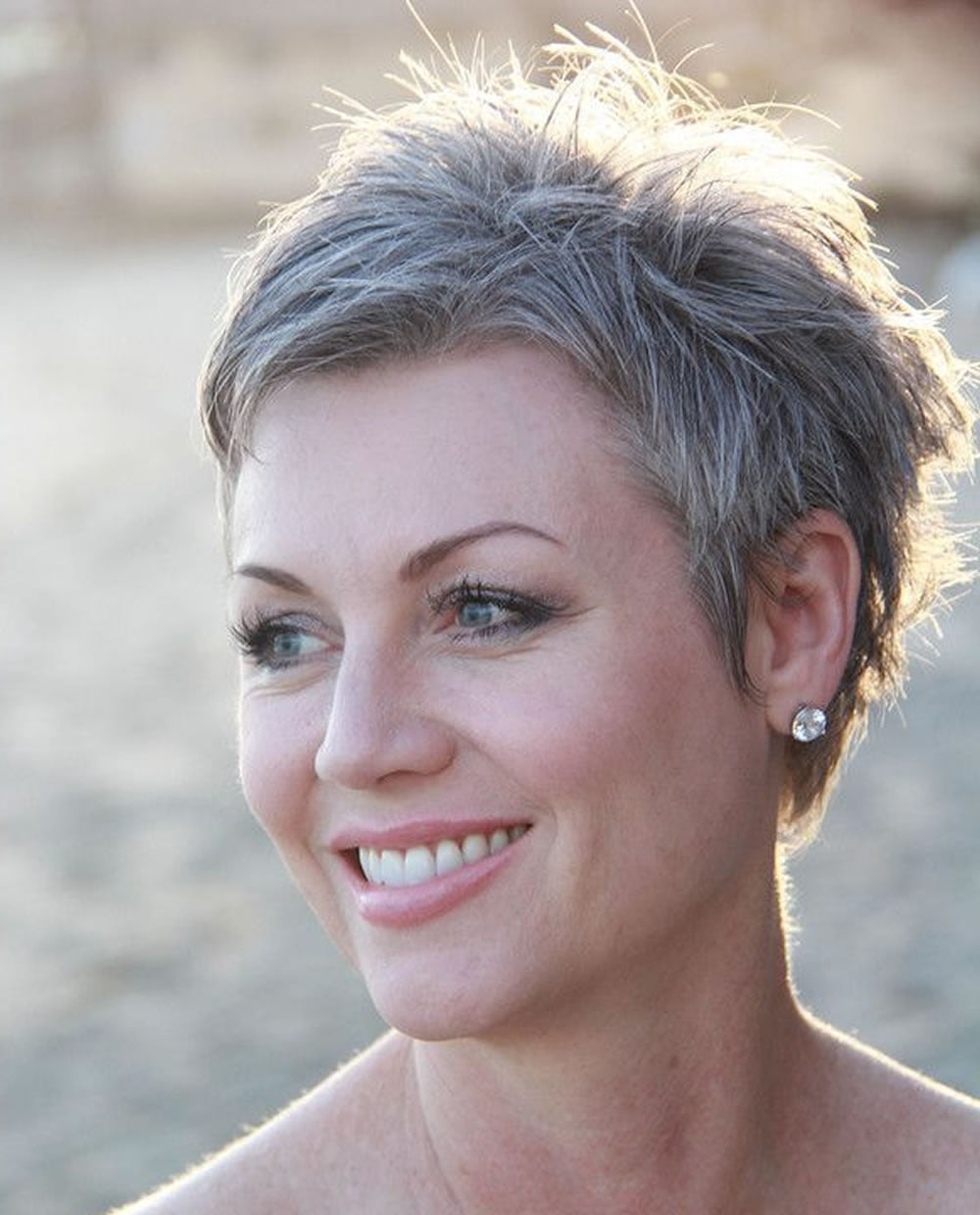 Grey Pixie Hair Cut Amp Gray Hair Colors For Short Hair