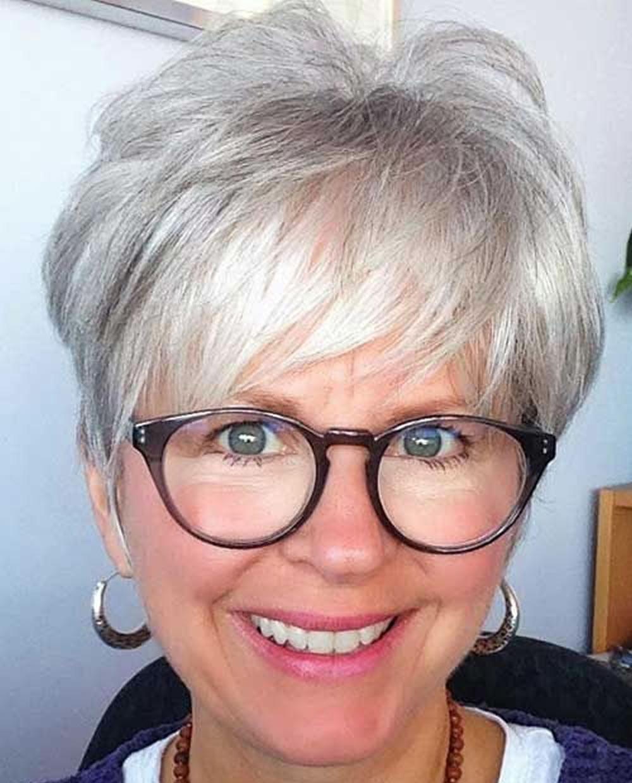 Grey Pixie Hair over 60