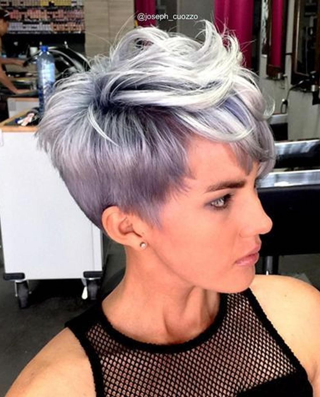Grey Balayage Pixie Hair