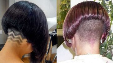 Nape Shaving Bob Hair cuts & Hairstyles for Women