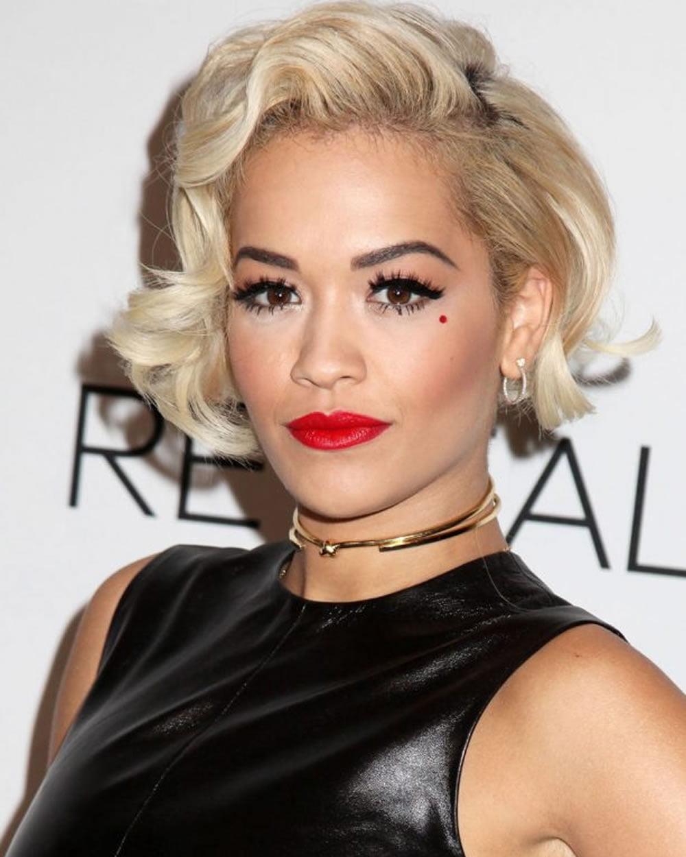 Rita Ora S Short Hairstyles Pixie Bob For 2018