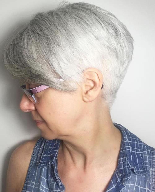 over 60 grey hair