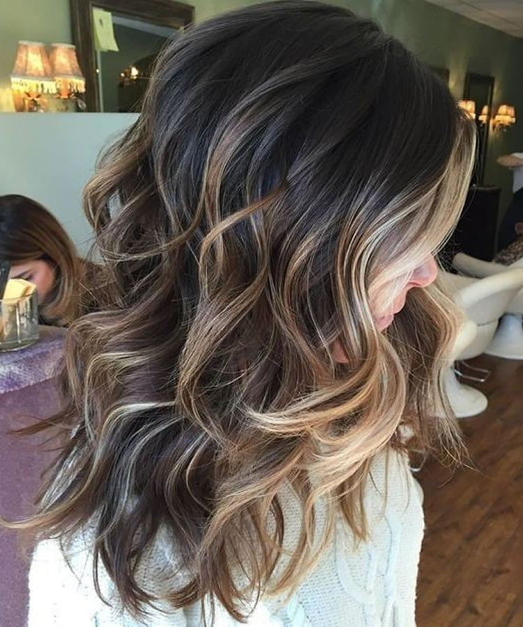 balayage hair colours