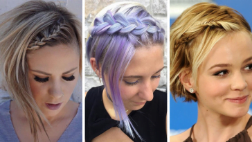 Trendy short hair braid