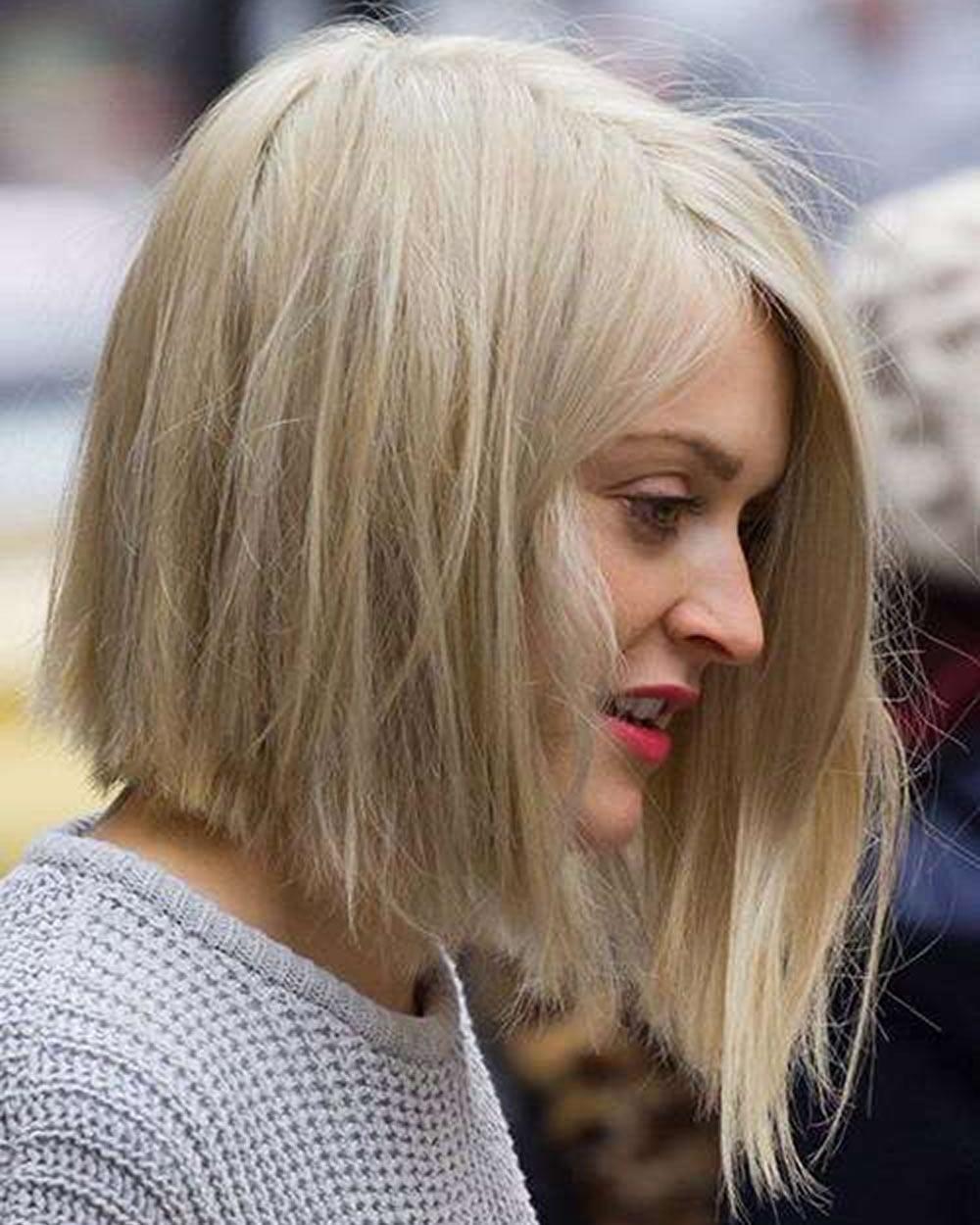 asymmetrical long bob hairstyle