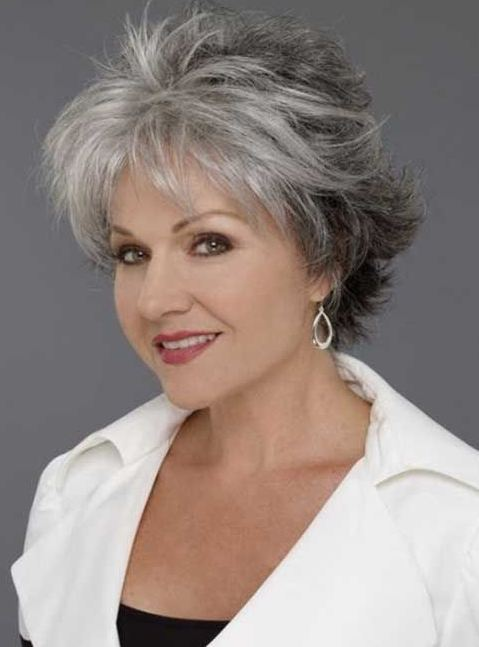 Hairstyles for women over 40 short grey hair 2016-2017