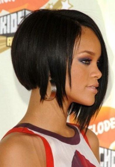 Latest Rihanna Hairstyles 2016-2017 Curly Short Black Hair