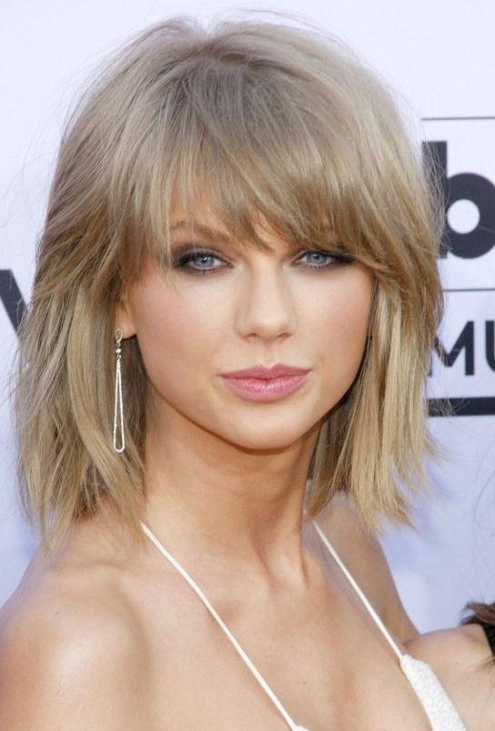Blonde Layered Bangs Hairstyles haircuts 2016-2017 - Medium hair