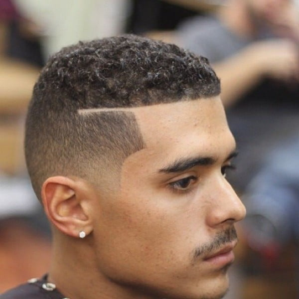 Curly Fade Hairstyle Men Hairstyles