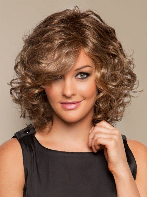 Medium curly hairstyles for women