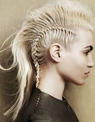 Blonde Mohawk hairstyles and haircuts medium hair 2017 for women