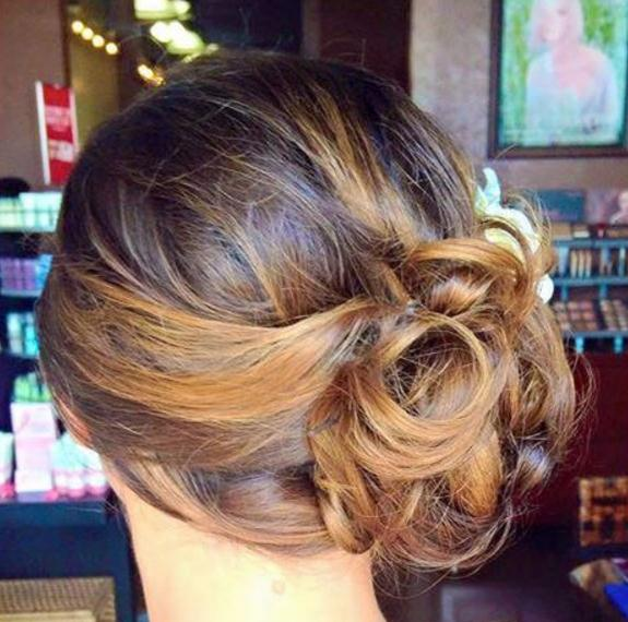 Updo hairstyles knob on the side