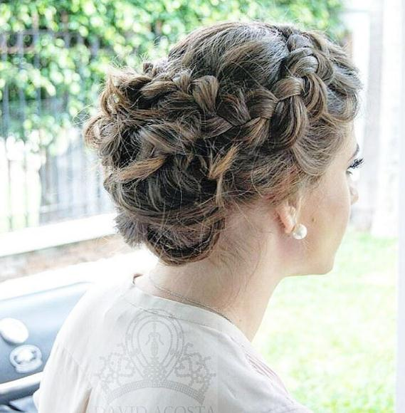 Blonde Updo hairstyles with braided