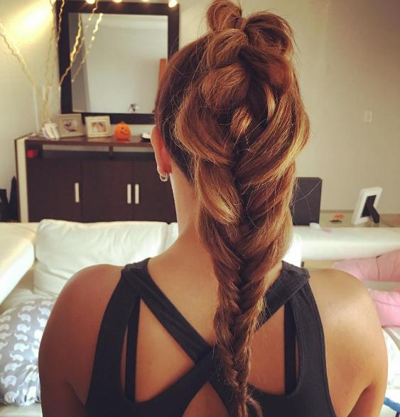 Long braided Updo hairstyles