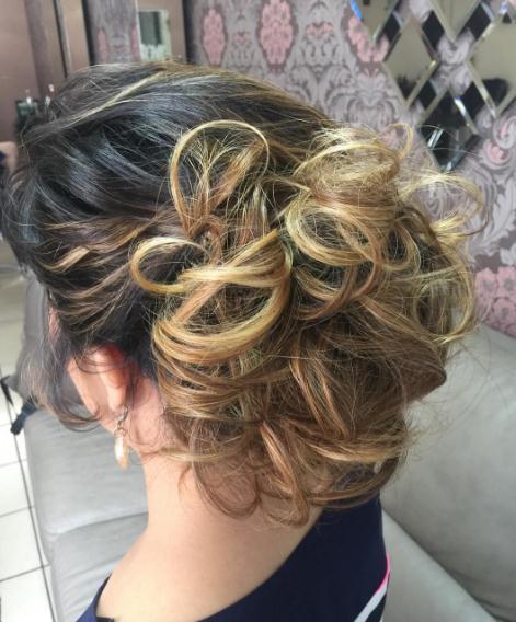 Updo hairstyles bun behind the head