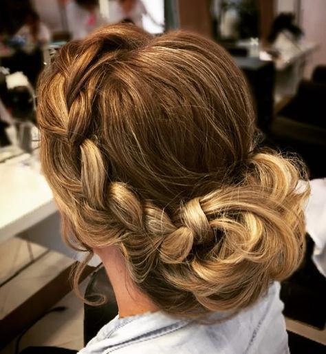 Updo hairstyles glamorous braided bun