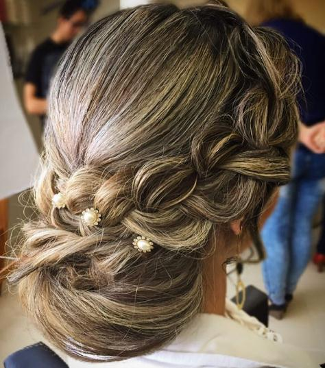 Blonde Updo hairstyles and haircuts with tressed