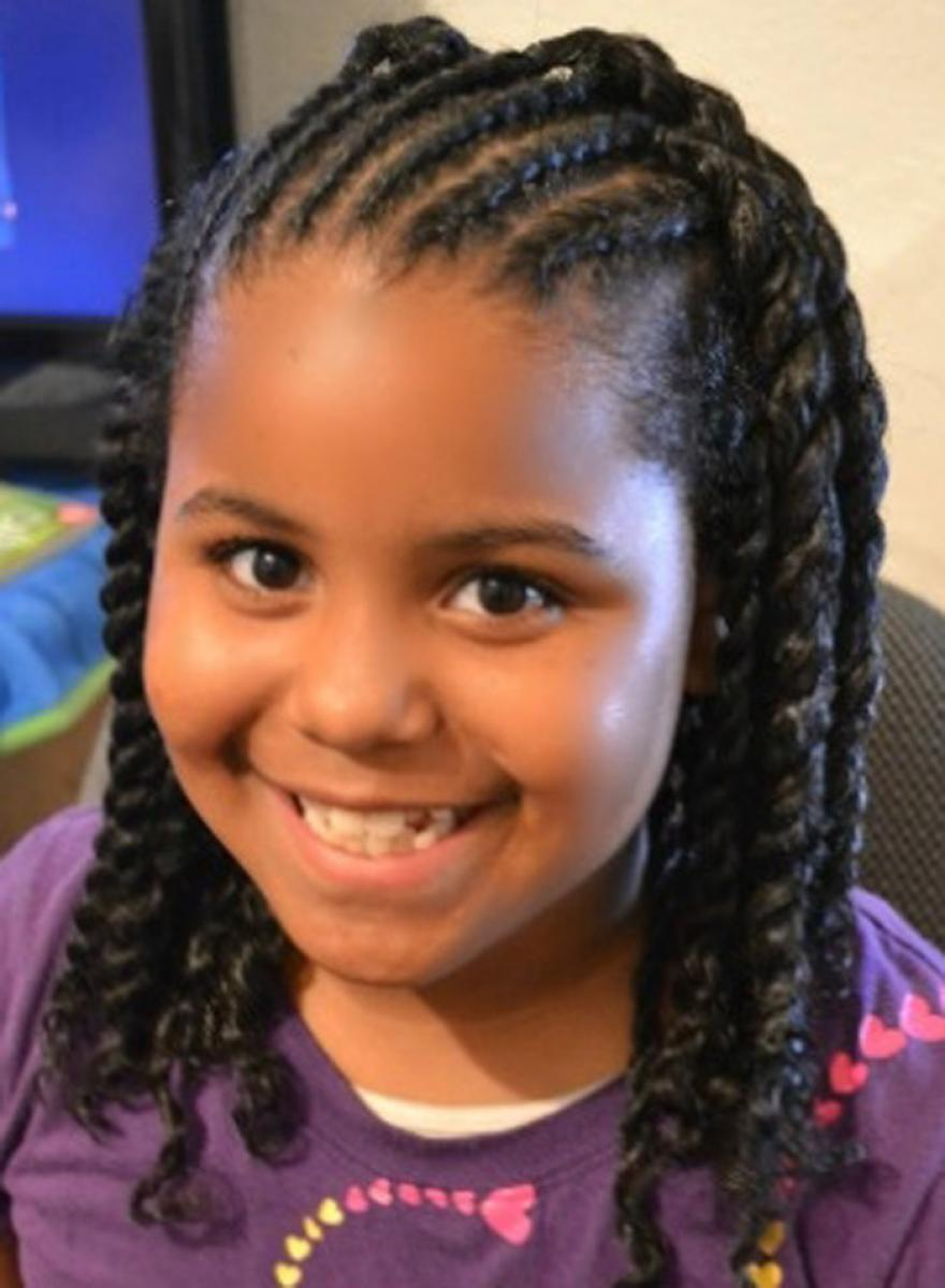 2017 Cute Long Braided Hairstyles for little black girl