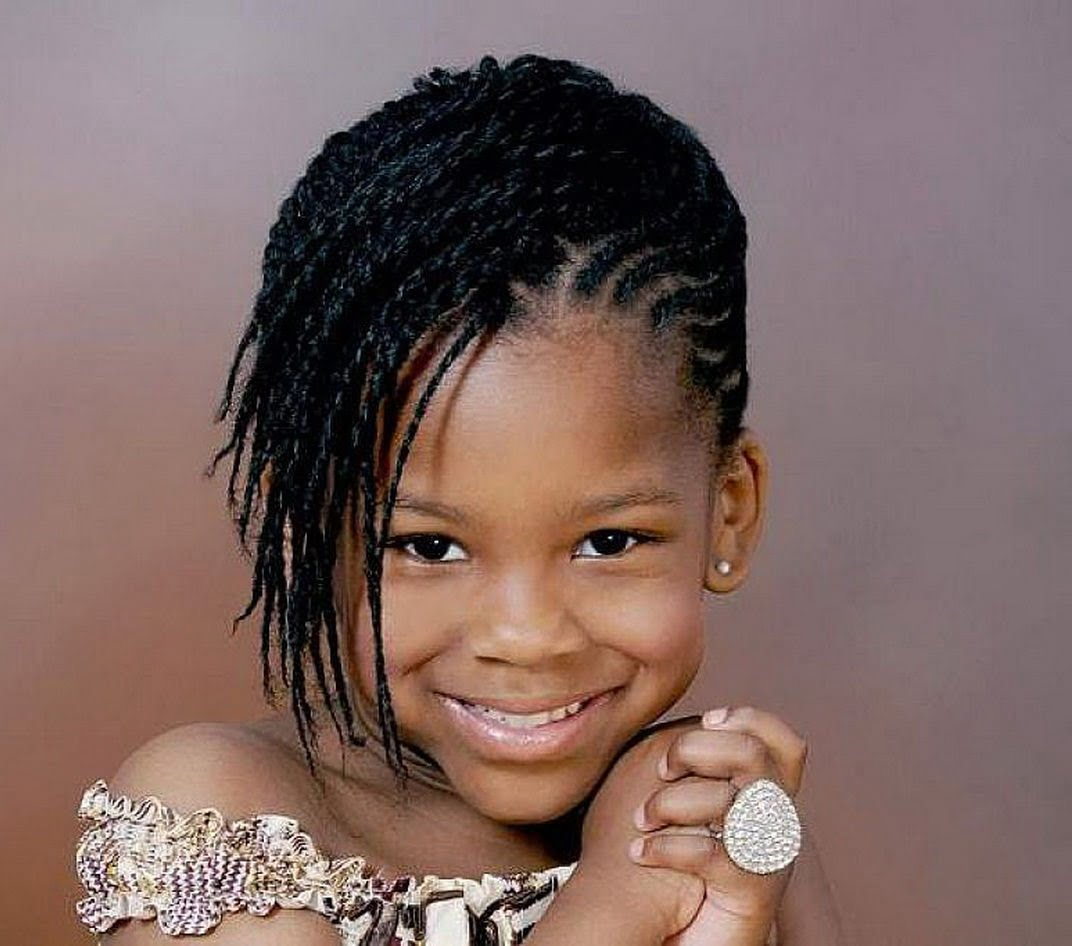 2017 Medium Braided Hairstyles for little black girl