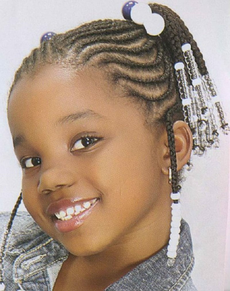 2017 Short Braided Hairstyles for little black girl